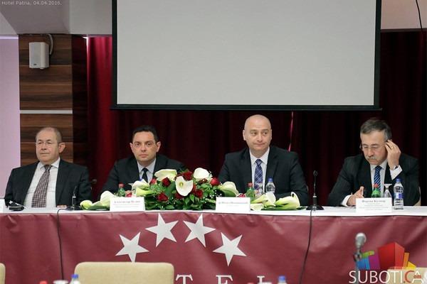 Ištvan Pastor, Aleksandar Vulin, Nenad Ivanišević i Ferenc Kalmar. Foto: Subotica.com