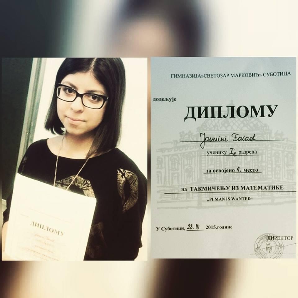 Diploma za nadarenu devojčicu.