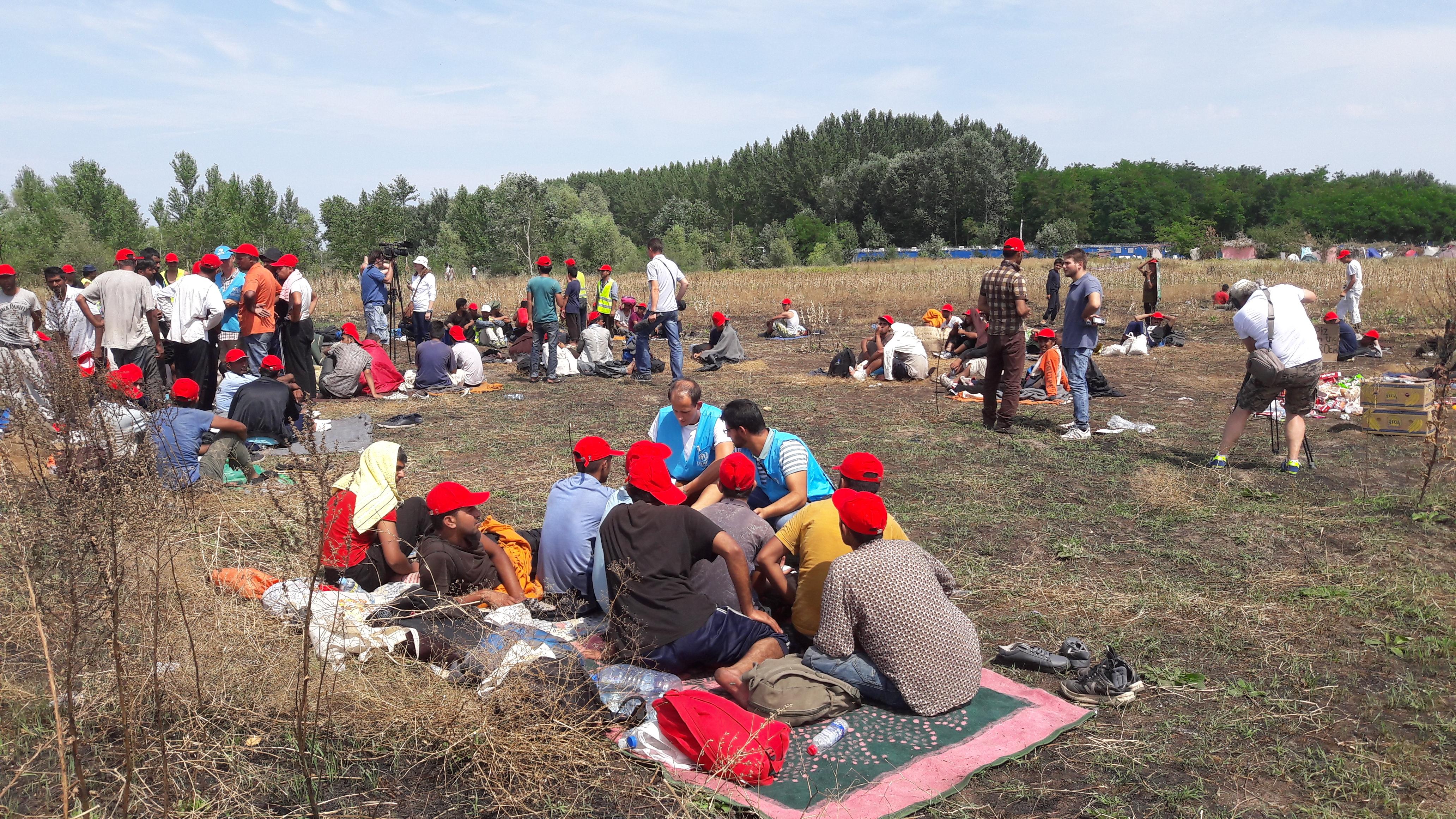 Migrati protestuju i štrajkuju glađu kod Horgoša.