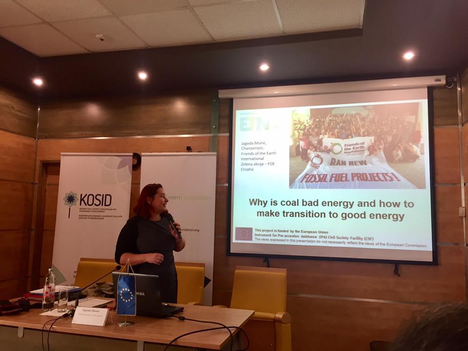 Seminar sa temom ekonomskih, ekoloških i zdravstvenih efekata i troškova u anti-ugljenim kampanjama u Prištini.