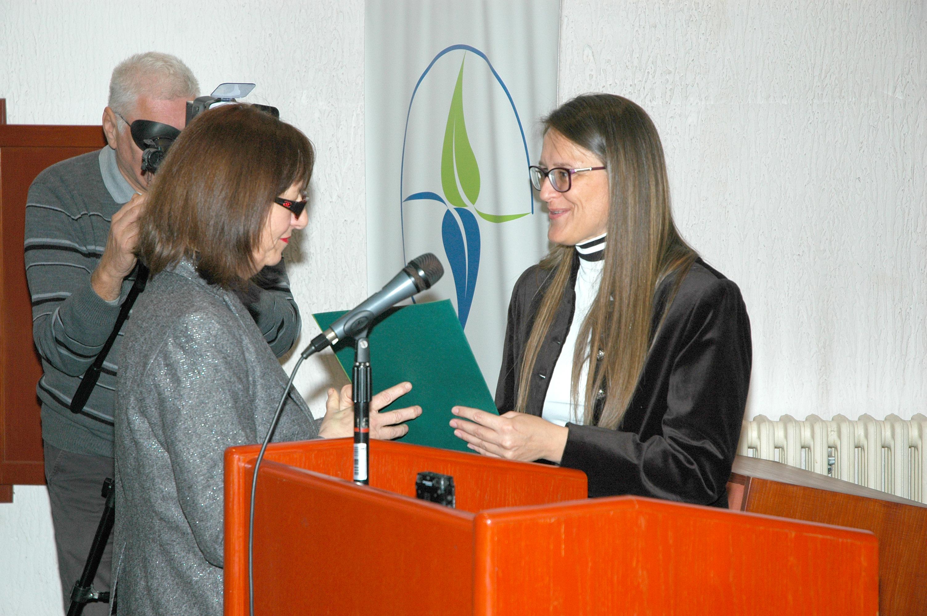 Dragana Ratković, autorka emisije : Pod staklenim zvonom. Foto: Miloš Ćirković.