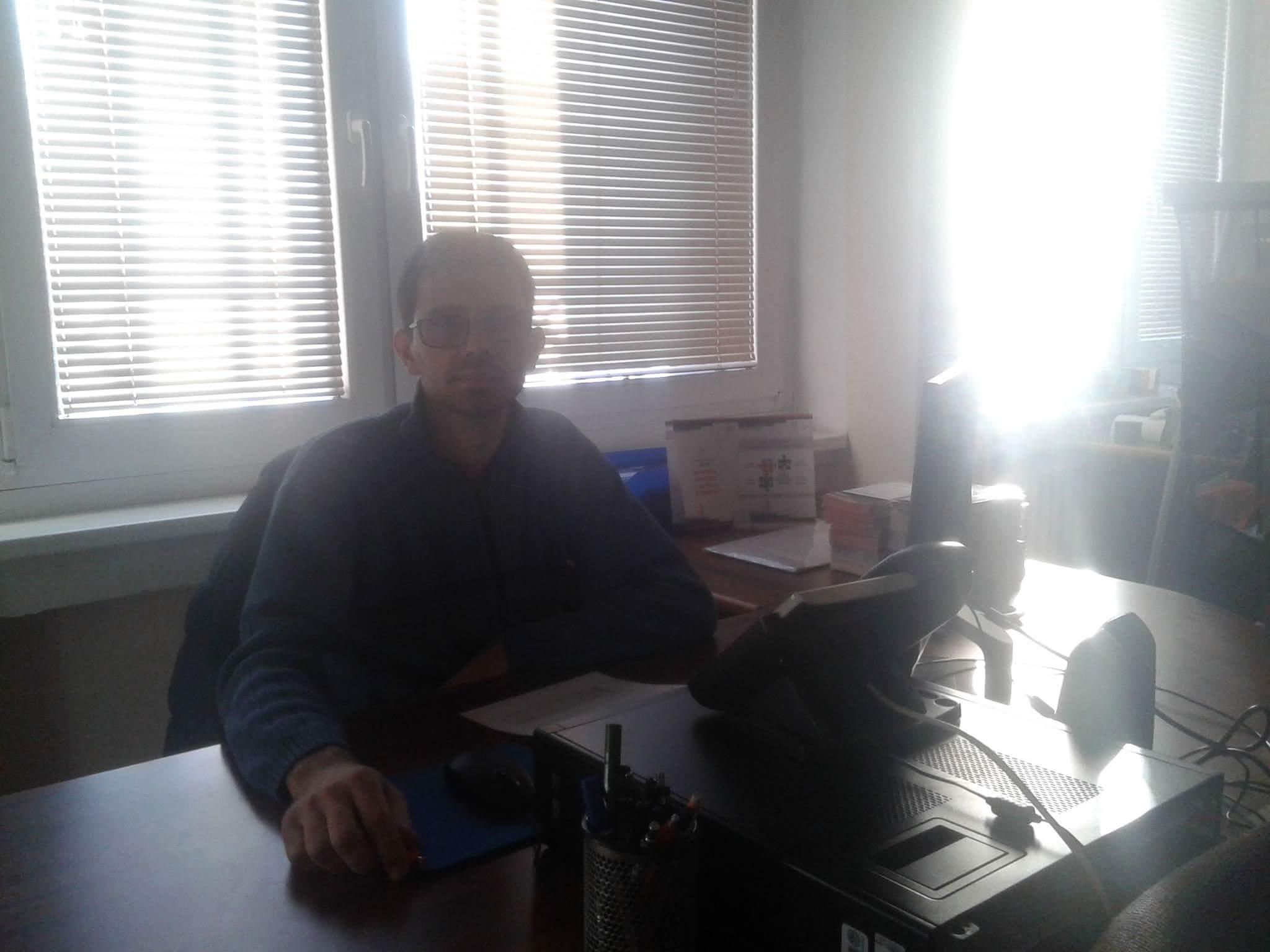 Stefan Savić, mentor studentima sa invaliditetom. Foto: Anđela Zec