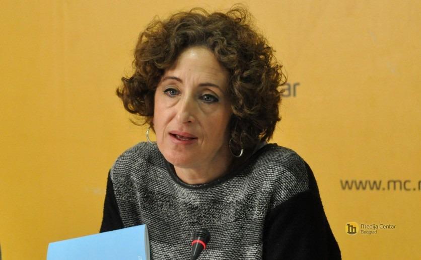 Tanja Petrovic - Konferencija za medije Koalicije 27
