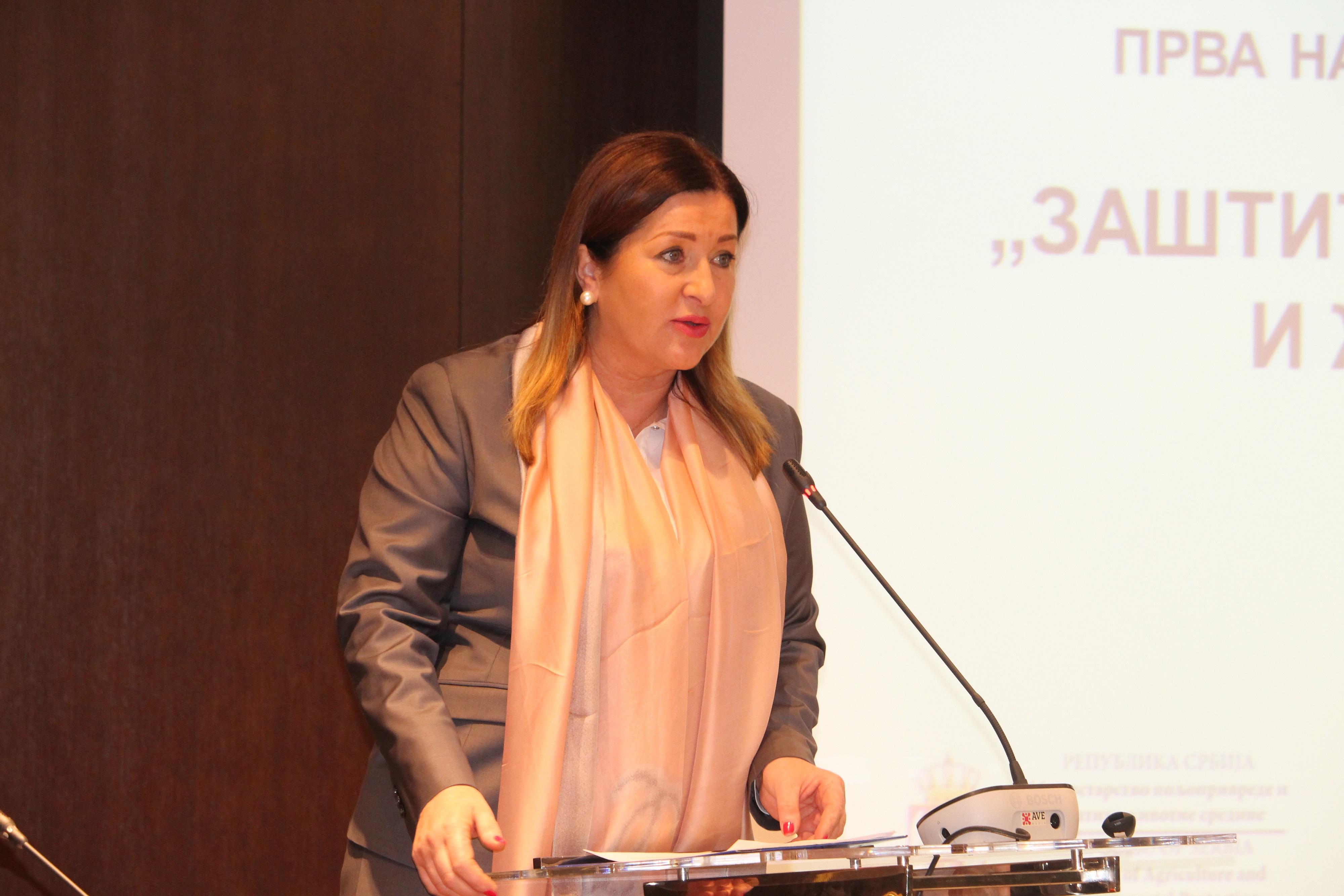 Стана Божовић, државна секретарка Министарства пољопривреде и заштите животне средине