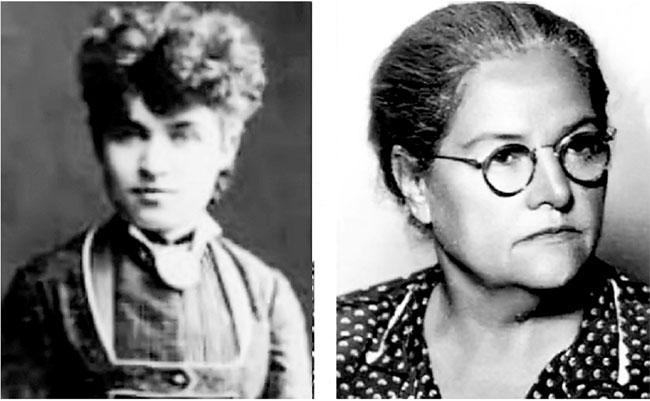 Milica Tomić i Mara Đorđević Malagurski. Foto: http://www.politika.rs/scc/clanak/370387/Dan-kada-su-prvi-put-glasale-zene-iz-Subotice